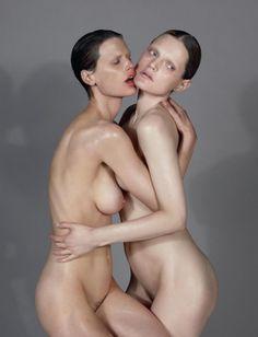 """Fawnicate"" Saskia de Brauw and Guinevere Van Seenus by Mert & Marcus for Love Magazine #8 F/W 2012"