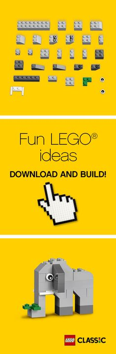 Did you know that elephants can live to be over 70 years old and are the only mammal that can't jump? Find out how to build your own grey friend with some LEGO Classic bricks! http://www.lego.com/en-us/classic/seasonal-builds