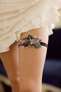 Maroon Wedding Garter