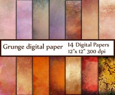 Grunge texture Paper: GRUNGE DIGITAL PAPER Rustic by ChiliPapers