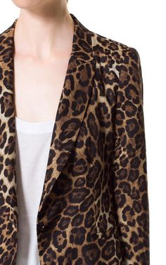 ANIMAL PRINT BLAZER from Zara I love blazers! Dress up... Dress down :)
