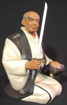 Hakata Doll Admiring the Japanese Sword Ichigo Hitofuri