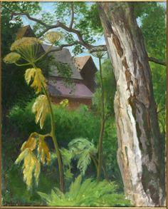 "wetreesinart: "" John Aldridge (English, Silver birch, oil and gouache, Fry Gallery, Essex "" John Aldridge, Leeds Art Gallery, 20th Century Painters, Art Uk, Contemporary Landscape, Source Of Inspiration, Love Painting, Community Art, Lovers Art"