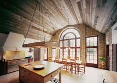 Unmilled barnwood ceiling by Ebony and Co