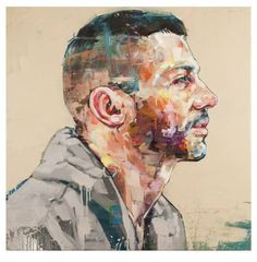Enjoy the Silence by Andrew Salgado at The Christopher Moller Art Gallery - Elle Decoration Modern Canvas Art, Contemporary Abstract Art, Modern Art, Contemporary Artists, Different Kinds Of Art, Gay Art, Affordable Art, Vintage Posters, Decoration