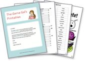Free Printable Games (charade lists, catchphrase lists, game boards)