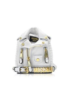 MOSCHINO ECO LEATHER BIKER JACKET BACKPACK