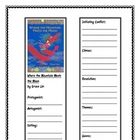 Where the Mountain Meets the Moon-- A bookmark to use to record the story elements from the book,