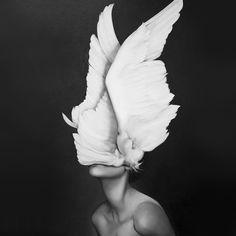 Wings face portrait no face photography surrealism art artist Amy Judd Alternative Kunst, Art Du Monde, Foto Art, Art Inspo, Amazing Art, Awesome, Art Photography, Ethereal Photography, Fashion Photography