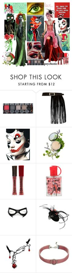"""Red & Quinn"" by verysmallgoddess ❤ liked on Polyvore featuring GET LOST, Marchesa, Hot Topic, River Island, Origins, Masquerade, L'Oréal Paris, DC Comics, Gucci and Reine"