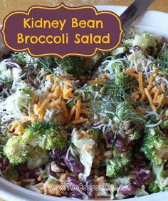 Meatless Meal Recipe   Kidney Bean Broccoli Salad
