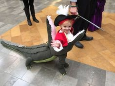 Captain Hook eaten by a Crocodile costume Baby Costumes For Boys, Diy Baby Costumes, Boy Costumes, Creative Halloween Costumes, Clever Costumes, Costume Ideas, Disney Kids Costumes, Funny Toddler Halloween Costumes, Children Costumes