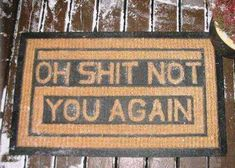 Anti-Social Welcome Mats - The 'Go Away' Doormat from Fancy Says it Like it Is (GALLERY)