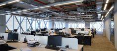 Oficinas nuevas. Open Space II AFC Chile.  Huérfanos 670, Santiago, Chile Superficie: 1.600 m2 Contract Workplaces