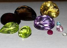 Mixed Semi-Precious & Precious Gemstone's Including Ruby & Diamond. 10TCW. LOT 1