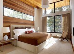 dormitorio estilo minimalistas moderno ventana alta ideas