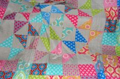 Love the easy layout & bright colors! Rainbow Hare Quilts: January 2013, patchwork, quilt top