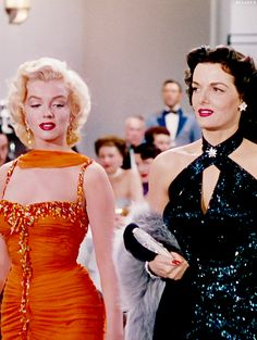 Marilyn Monroe and Jane Russell in Gentlemen Prefer Blondes. 1953