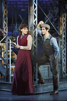 Morgan Keene (Katherine) and Joey Barreiro (Jack Kelly) in NEWSIES on tour.