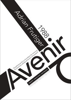 AVENIR - afiche tipográfico on Behance