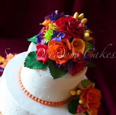 cakes with gumpaste flowers - Bing Images