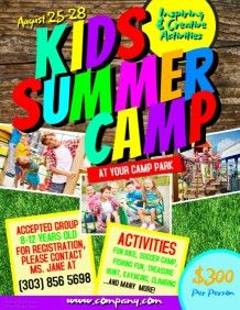 kids summer camp flyer template passport to reading bulletin board