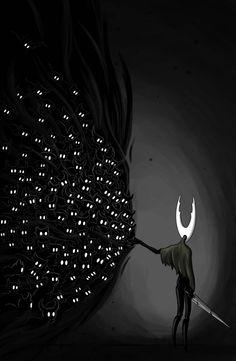 Don't Bear That Burden Alone by Awlita on DeviantArt Dark Fantasy, Fantasy Art, Doodle Art, Character Art, Character Design, Team Cherry, Hollow Art, Hollow Night, Humanoid Creatures