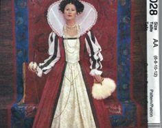 Simplicidad 9929 vestido renacentista Medieval LOTR traje