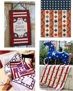Free Patterns @ Quilt Inspirations  http://quiltinspiration.blogspot.com/2012/05/free-pattern-day-patriotic-quilts.html