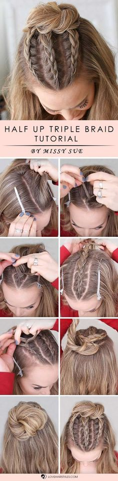 How to braid hair? We all ask this question from time to time, especially when we tried it all already and simple curling and straightening is no fun any longer. We have step by step tutorials that will teach you how to braid your tresses for a super adorable look. Check out our post! #braids #howtobraidhair #hairtutorial #braidstutorial