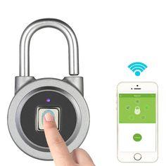 BT Fingerprint Smart Keyless Lock Waterproof APP Button / Fingerprint / Password Unlock Anti-Theft Padlock Door Luggage Case Lock for Android iOS System - intl Keyless Locks, Lost Keys, Gadget Store, Ios, Android, Smart Key, Aliexpress, Smart Home, Easy To Use