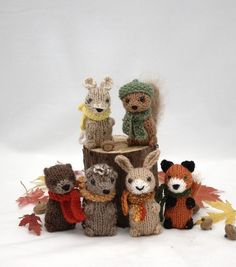 Wee Woodland Wuzzies Knitting Pattern by fuzzymitten on Etsy