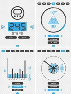 Walk to LCC app. by Julie Hoang, via Behance