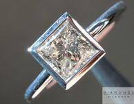 Princess Cut Diamond Ring: .78ct J I1 Princess Cut Diamond Ring GIA R4484