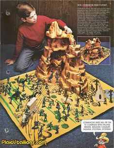 {Searching for kids toy tips? Gi Joe, Retro Toys, Vintage Toys, Childhood Toys, Childhood Memories, Forte Apache, Plastic Toy Soldiers, Old School Toys, Army Men