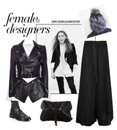 """Ann"" by veureka on Polyvore featuring Ann Demeulemeester, TIBI, Alexander McQueen, Prada, internationalwomensday, pressforprogress, FemaleDesigners and ByWomenForWomen"
