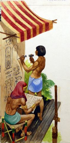 Egyptian Picture Writing (Original) art by Peter Jackson