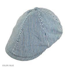 0c1183d01c8 Stetson Stripe Denim Duckbill Cap (Blue) Mens Summer Hats
