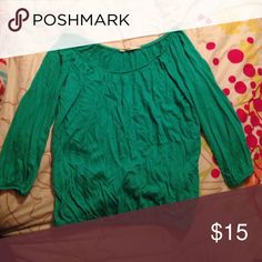 Flowing green tunic Flowing green tunic with elastic gathering at bottom Old Navy Tops Blouses