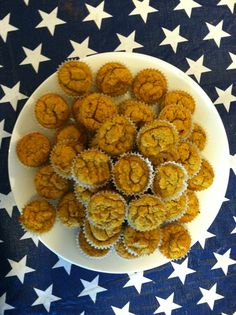 Pumpkin mini muffins: gluten-free, IC friendly, low oxalate, low acid.  Came out a bit moist but yummy.  Next time will probably add more coconut or rice flour. Set Oven at 300 Dry ingredients: 1/4 c coconut flour 1/4 c tapioca starch 1/2 c rice flour  4 t flax 1/2 c flax 3 t baking soda 1 t salt 1-3/4 t nutmeg Wet ingredients: 6 eggs, room temperature 1-3/4 c pumpkin, room temp. 1 t Vanilla 1/2 c honey 1/2 c coconut oil, room temp.  Mix dry into wet, bake in lined mini muffin tin 30-45…