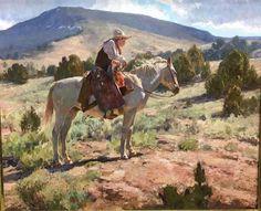 "Grant Redden ~ ""Browns Park Cowboy""  20X24 (work in progress)"