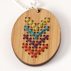 Cross stitch up some cute pendants, cuffs or key fobs - easy enough for beginners but fun for pros. DIY plus where to get your kits...