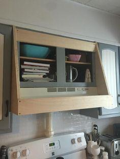 Kitchen Redo, Kitchen Remodel, Kitchen Ideas, Rustic Kitchen, Warm Kitchen, Kitchen Cabinets, White Cabinets, Custom Range Hood, Diy Hood Range