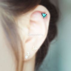 Pyramid Cartilage EarringTriangle Tragus Piercing16 by applelatte