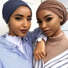 Love the layers in the brown headwrap