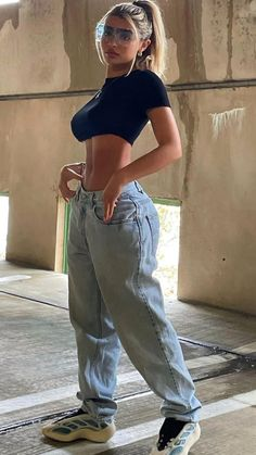 Tomboy Fashion, Teen Fashion Outfits, Mode Outfits, Retro Outfits, Look Fashion, Streetwear Fashion, Girl Outfits, Baddie Outfits Casual, Cute Casual Outfits