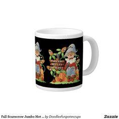 Fall Scarecrow Jumbo Hot tea mug 20 Oz Large Ceramic Coffee Mug