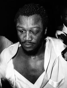 Joe Frazier is pictured after a hard-won victory over Joe Bugner on July 3, 1973.