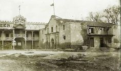 The Alamo, roughly 1890. You can't see it in this photo, but directly to the right at this time there was a saloon.