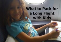 Getting ready to take a long flight? Here is a list of what to pack for a long flight with kids.